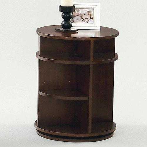 Progressive Furniture Metropolitan  Chairside Table w/ Swivel