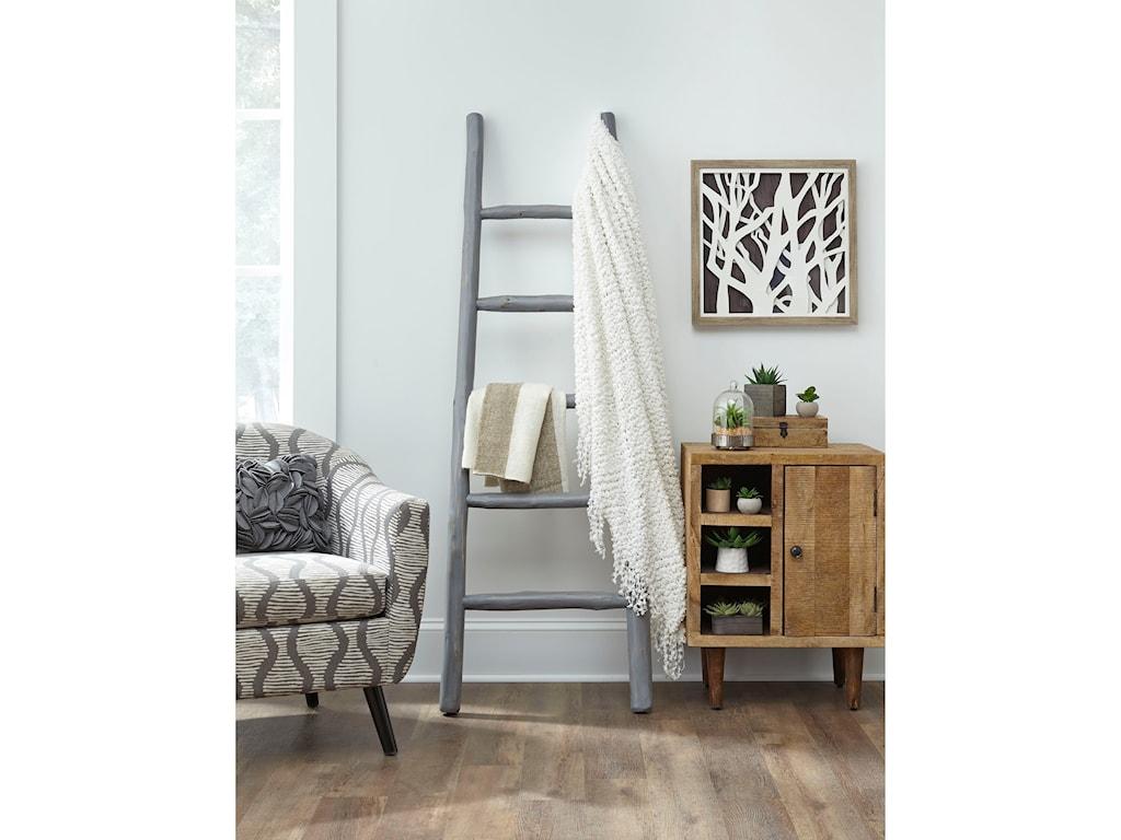 Progressive Furniture MillieAugust Gray Blanket Ladder