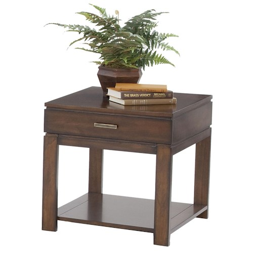 Progressive Furniture Miramar Contemporary Birch Drawer End Table