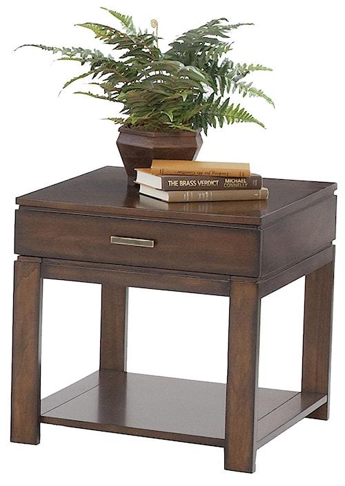 Progressive Furniture Miramar Contemporary Birch Drawer End Table