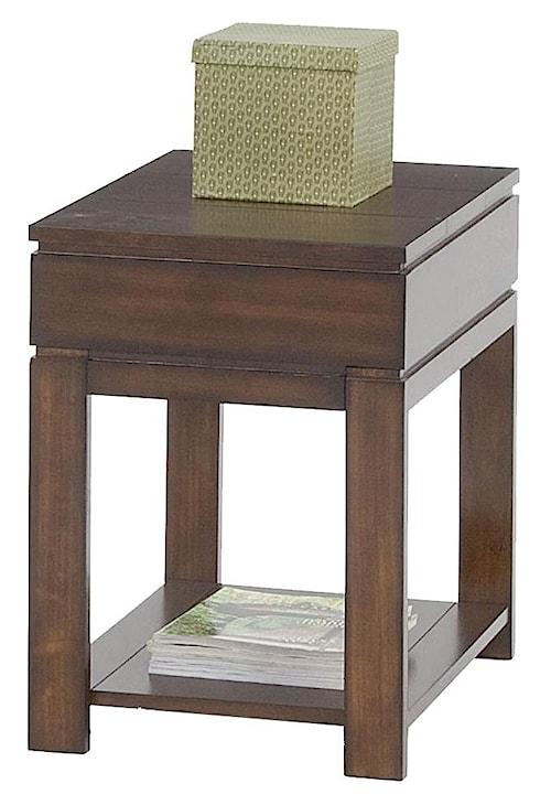 Progressive Furniture Miramar Contemporary Storage Chairside Table