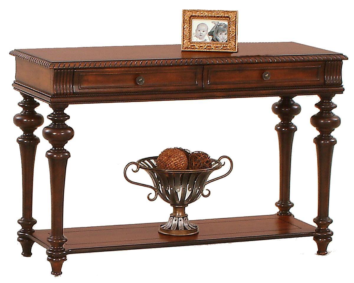 progressive furniture mountain manor traditional sofa table with two rh royalfurniture com coaster venice traditional sofa table doyle traditional sofa table with glass inlay top
