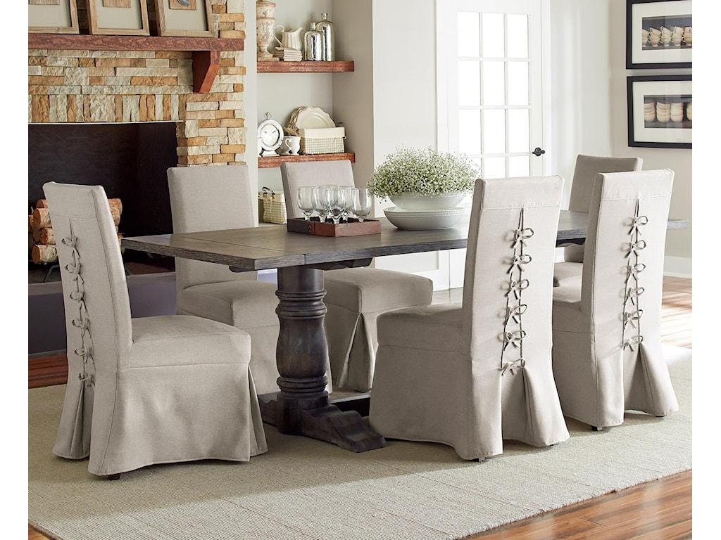 Progressive Furniture Muses7-Piece Rectangular Dining Table Set