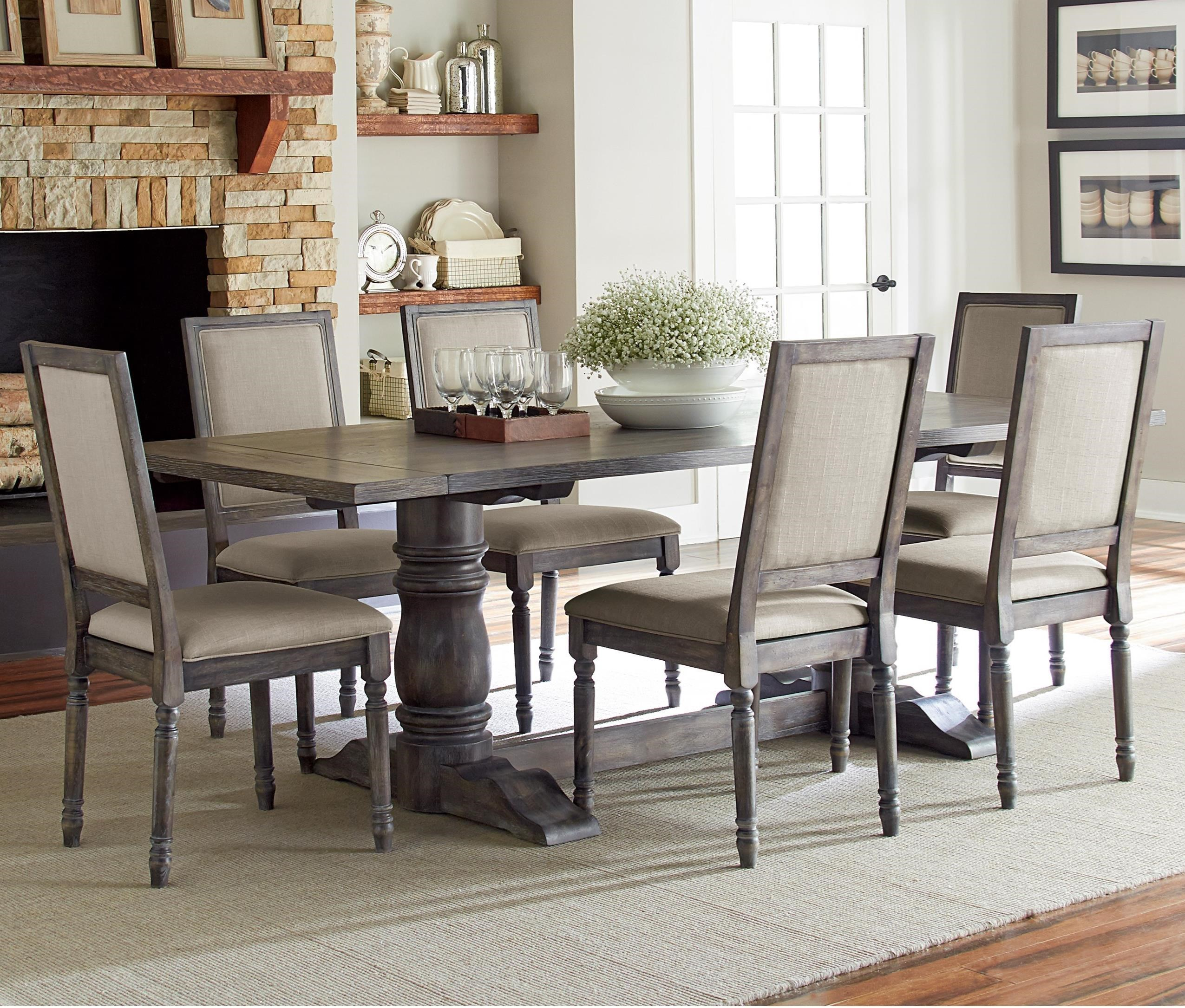 7 piece dining table set cottage style progressive furniture muses7piece rectangular dining table set muses 7piece
