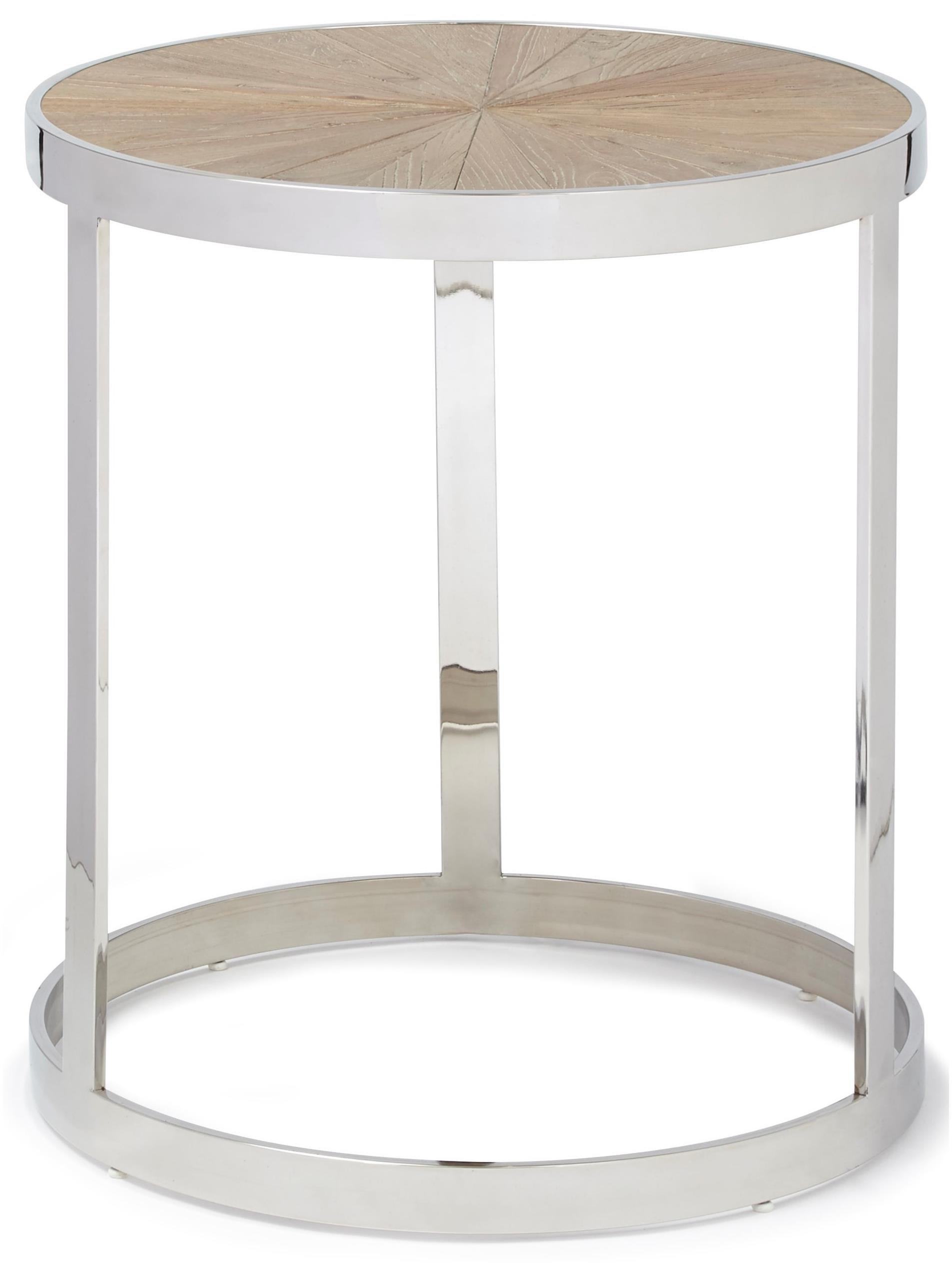 Progressive Furniture Oscar Reclaimed Elm/Chrome End Table