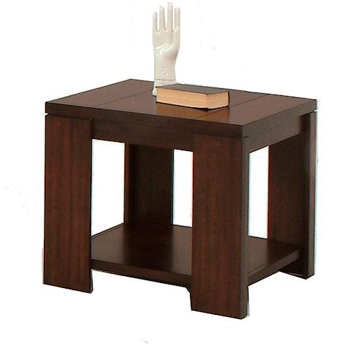 Progressive Furniture Waverly Contemporary Square Lamp Table
