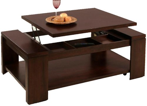 Progressive Furniture Waverly Contemporary Lift-Top Cocktail Table