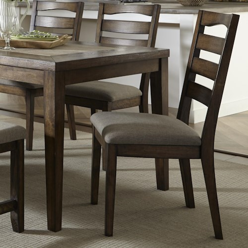 Progressive Furniture Forest Brook Ladder Back Dining Chair with Tapered Legs