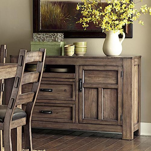 Progressive Furniture Boulder Creek Server With Minimally Designed Thick Block Legs