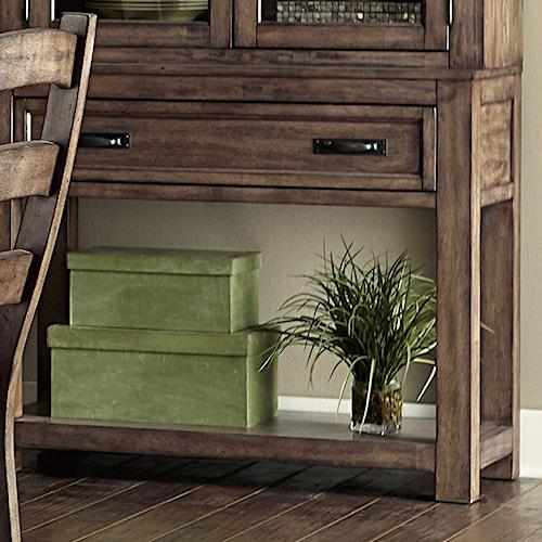 Progressive Furniture Boulder Creek Buffet With Minimally Designed Thick Block Legs
