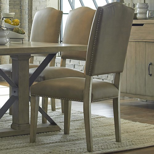 Progressive Furniture Shenandoah Transitional Dining Side Chair With Nail Trim
