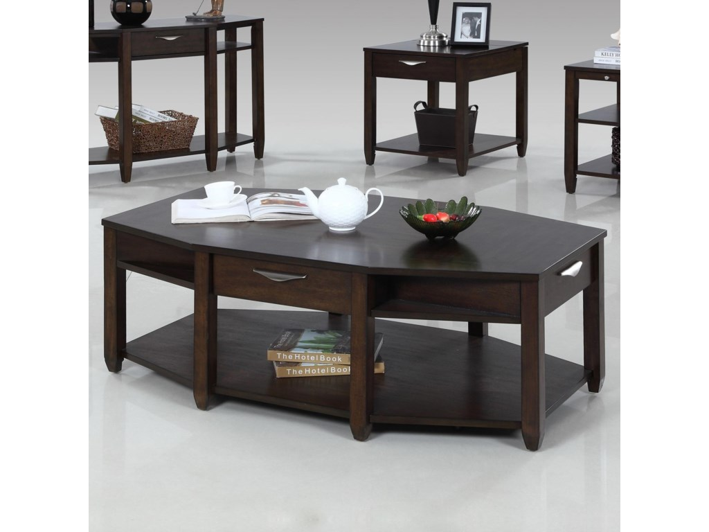 Progressive Furniture PaladiumEight Sided Castered Cocktail Table