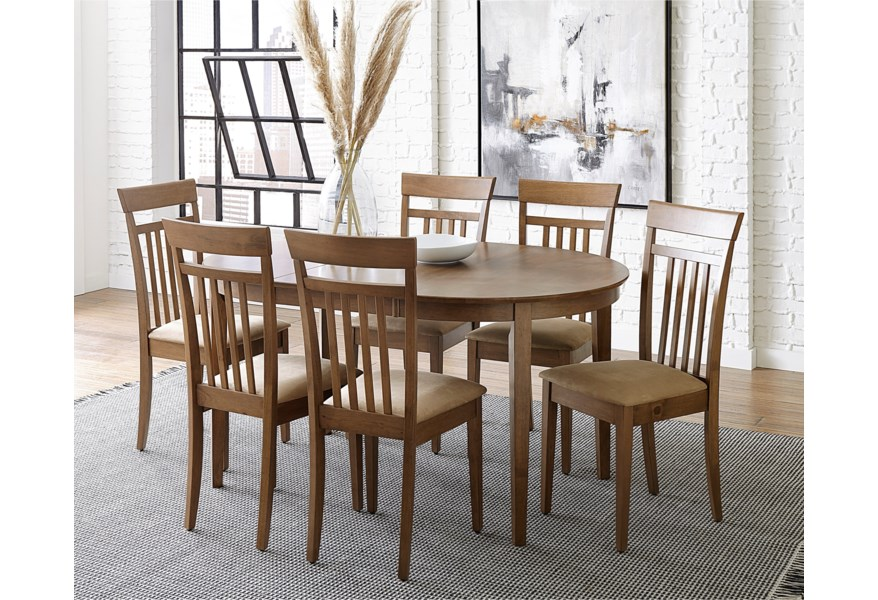 Progressive Furniture Palmer Transitional Upholstered Dining Side Chair With Slat Back Simply Home By Lindy S Dining Side Chairs