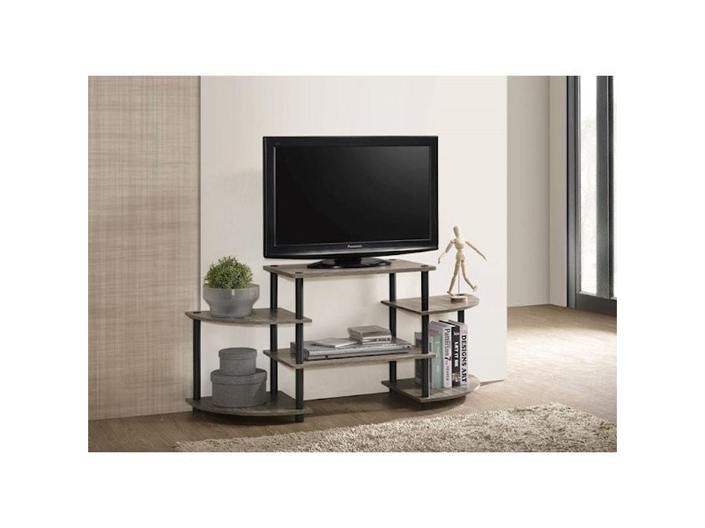 Progressive Furniture Phoenix Transitional Tv Stand With Multi Level Shelves