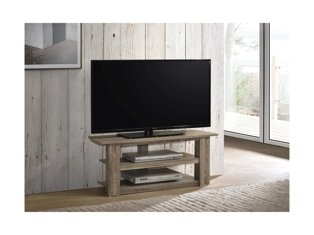 Progressive Furniture Phoenix Transitional Tv Stand With Shelves