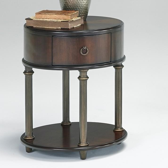 Progressive Furniture Regent CourtOval End Table With USB/Power Outlets ...
