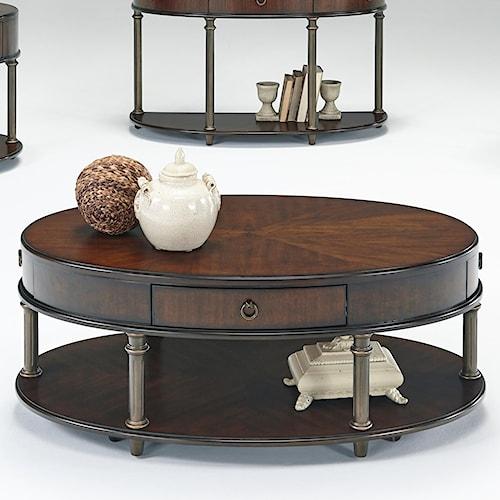 Progressive Furniture Regent Court Castered Oval Cocktail Table