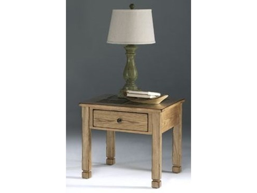 Progressive Furniture Rustic RidgeSquare Lamp Table