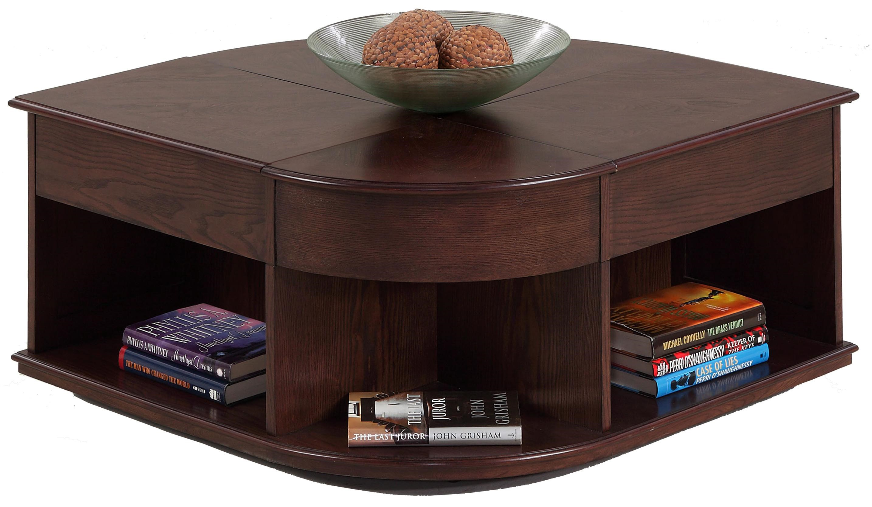 Progressive Furniture Sebring Castered Double Lift Top Cocktail Table    Royal Furniture   Cocktail/Coffee Tables