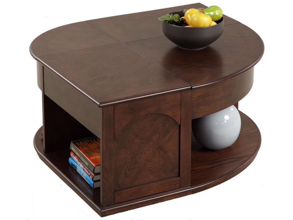 Progressive Furniture Sebring Castered Double LiftTop Cocktail - Double lift top cocktail table