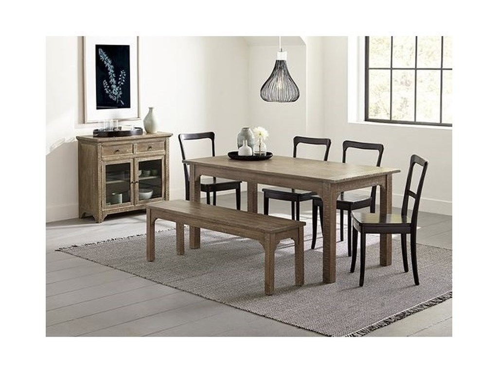 Teresa Rustic 6 Piece Solid Wood Dining Set With Bench By Progressive Furniture At Lindy S Company