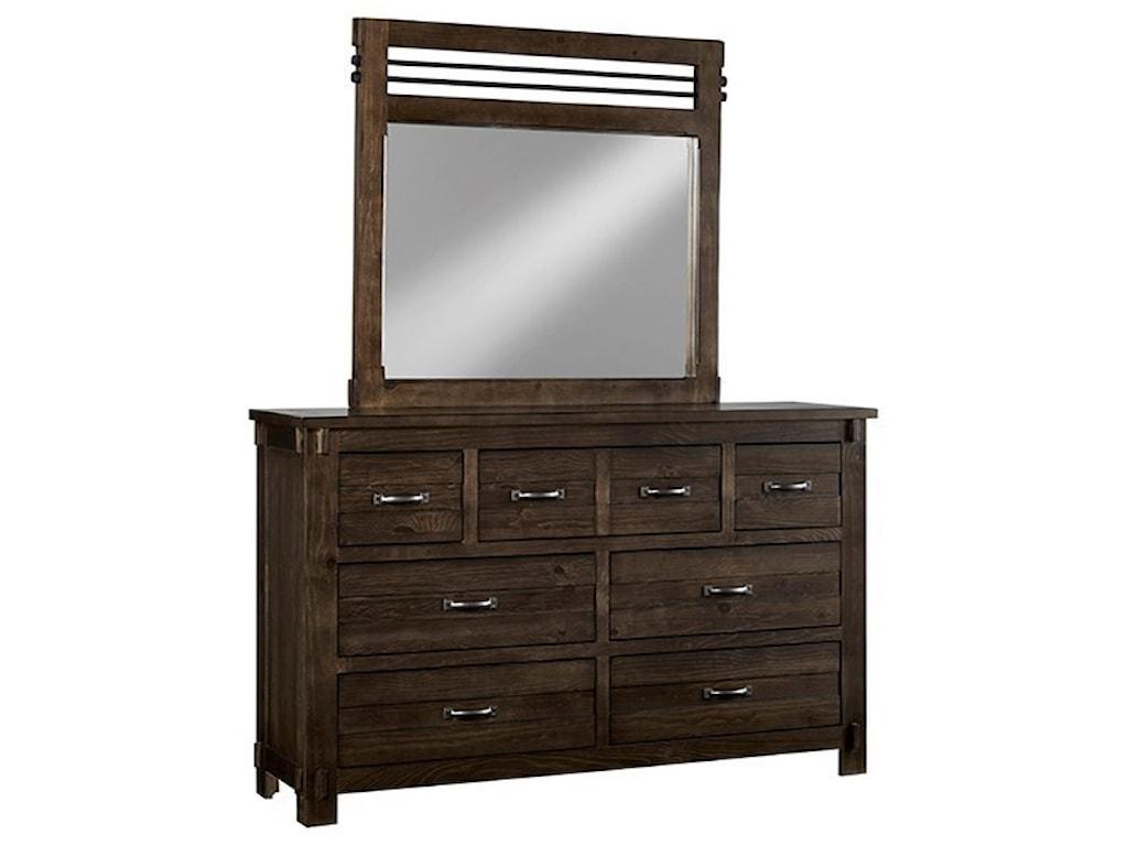Progressive Furniture ThackeryDrawer Dresser & Mirror