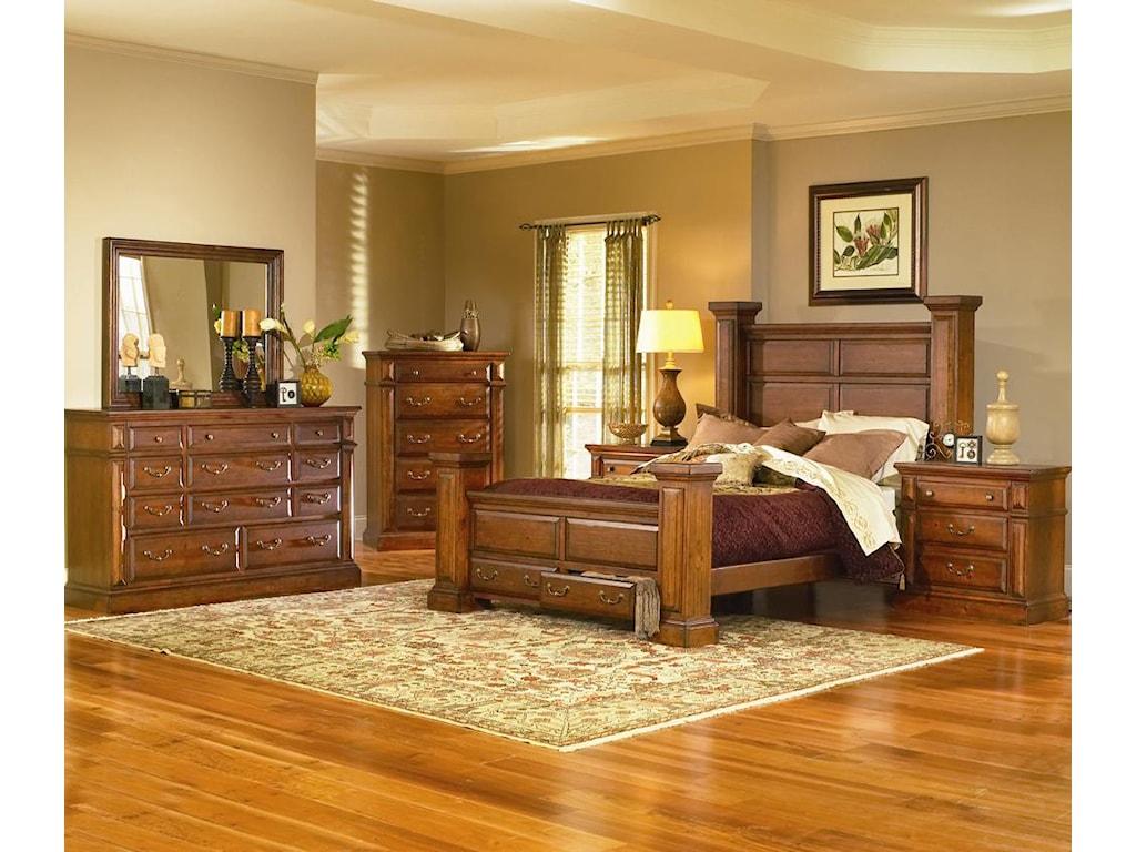 Progressive Furniture TorreonQueen Low Post Storage Bed