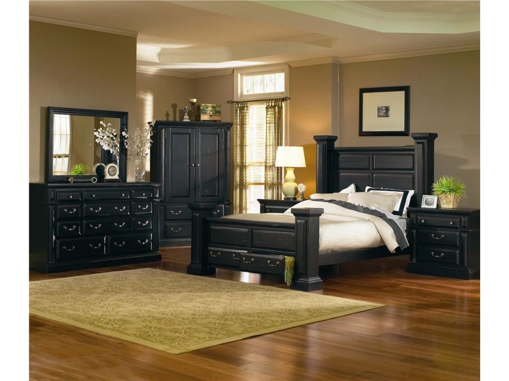 Progressive Furniture TorreonKing Low Post Storage Bed