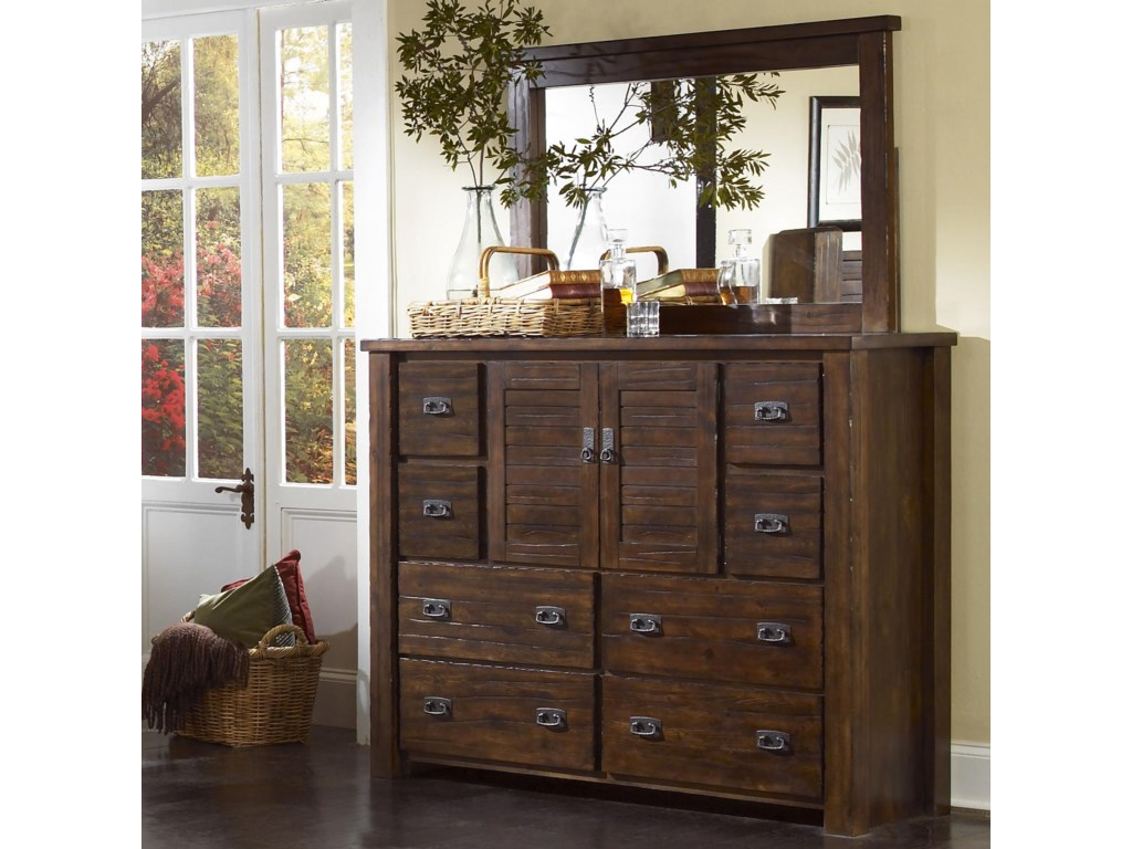 Progressive Furniture TrestlewoodDresser and Mirror