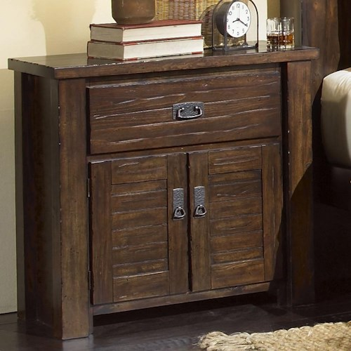 Progressive Furniture Trestlewood Night Stand w/ 2 Doors