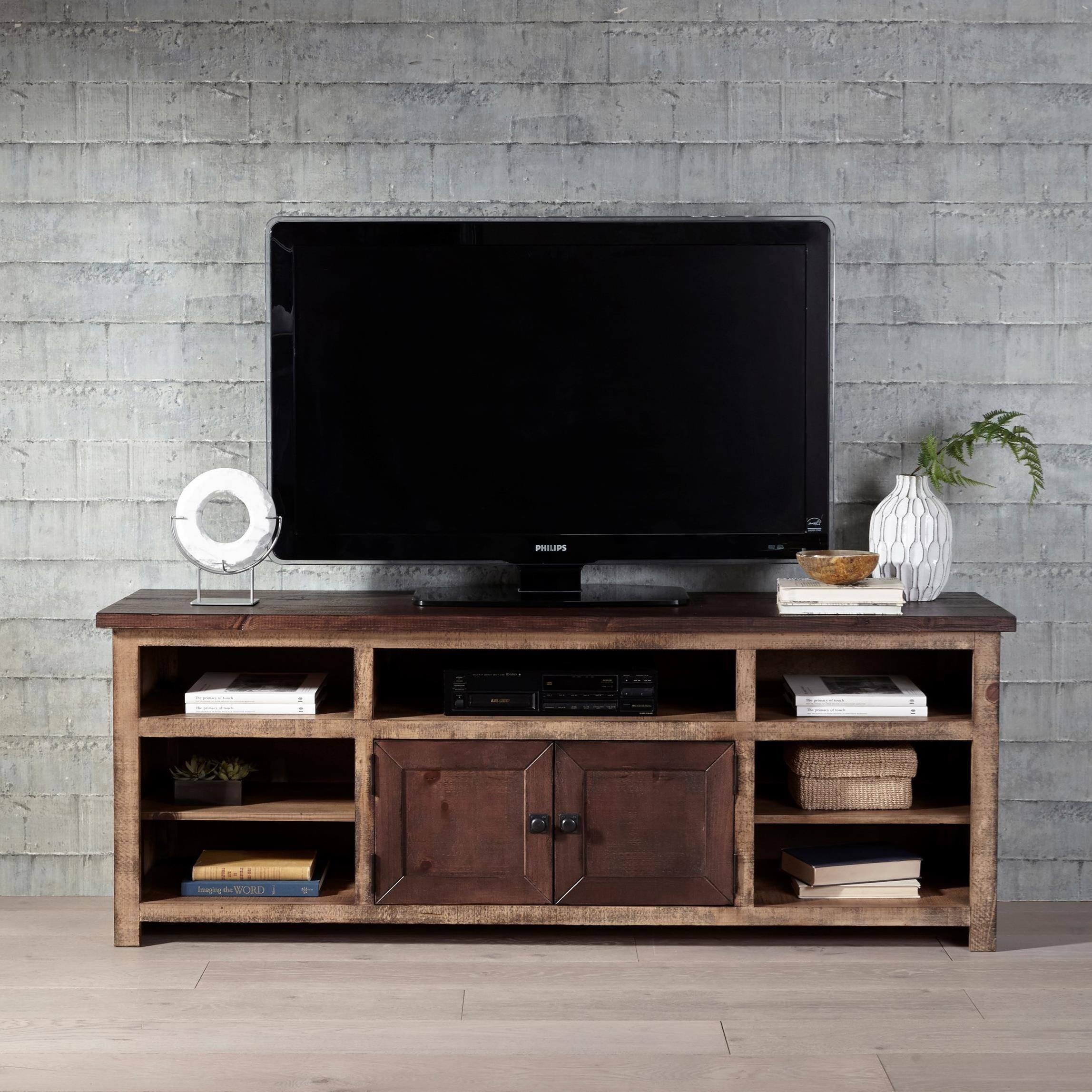 Progressive Furniture Trilogy 70 Inch Two Toned Console