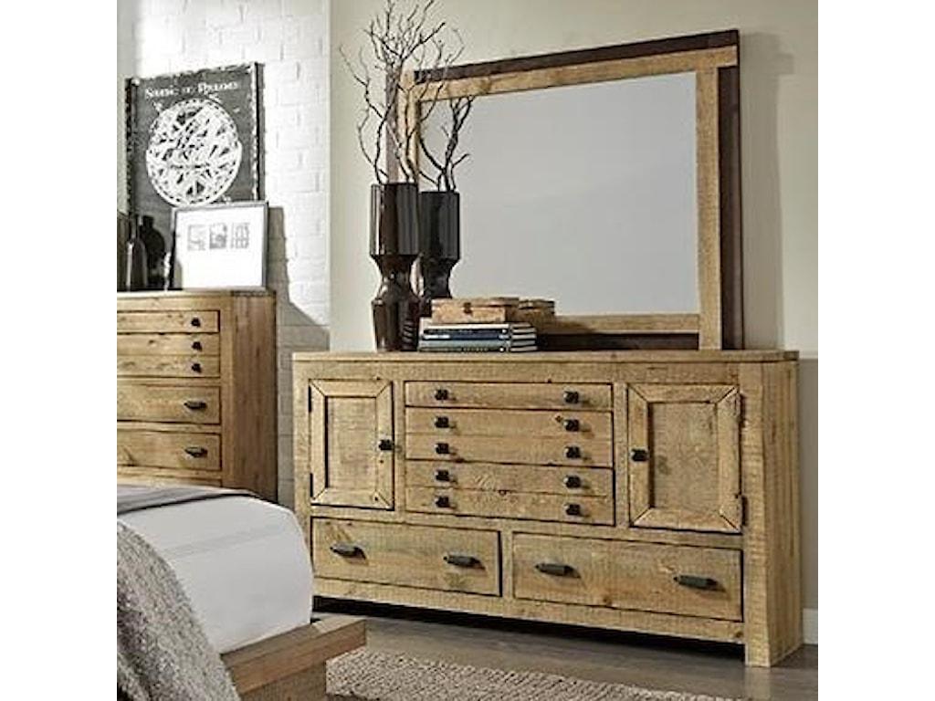 Progressive Furniture TrilogyDresser and Mirror Set