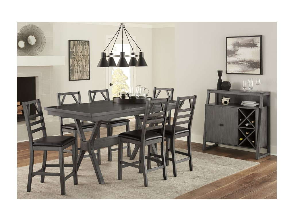 Progressive Furniture Trusses7-Piece Counter Table Set