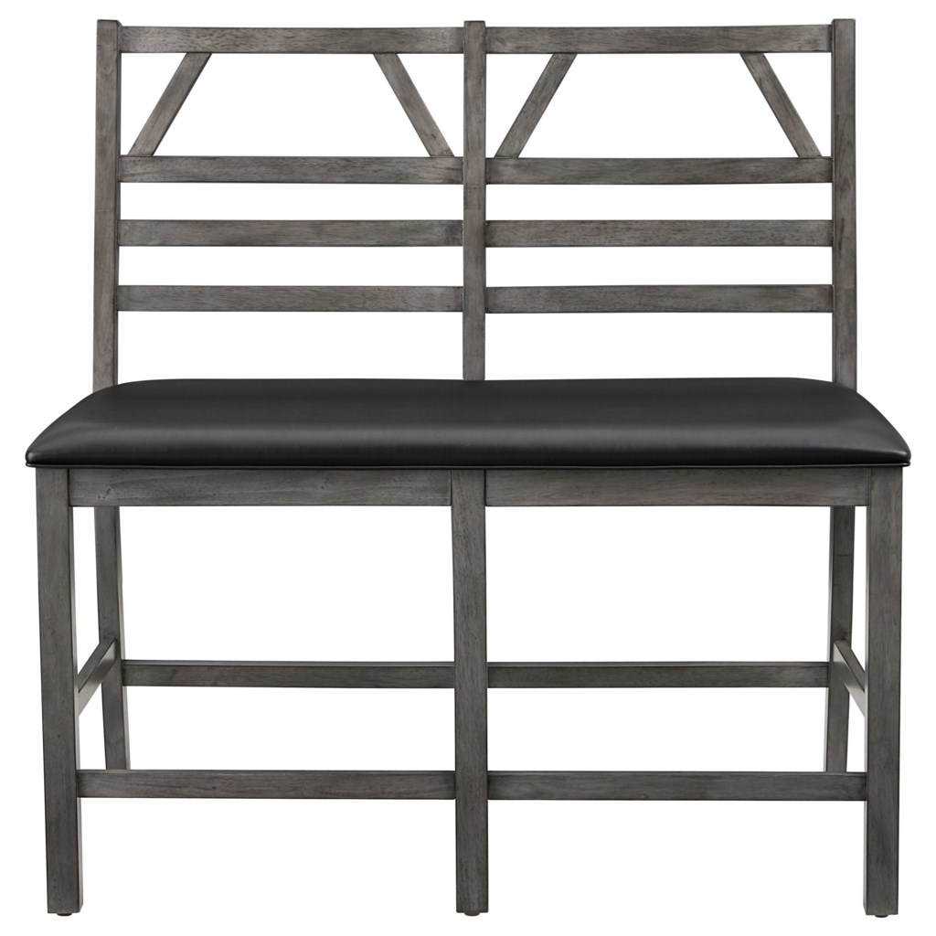 Progressive Furniture Trusses Upholstered Counter Bench With