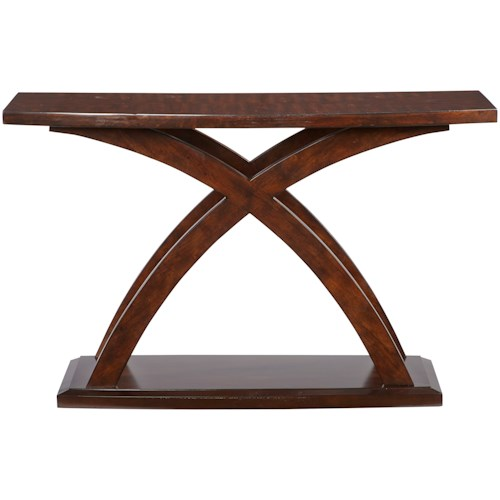 Progressive Furniture West Wind Contemporary Sofa Table with Curved Legs