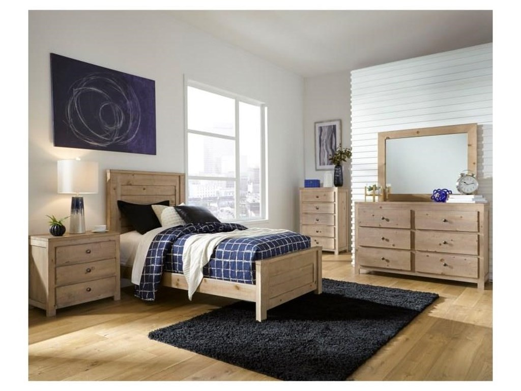 Progressive Furniture Wheaton6 Piece Twin Bedroom Group