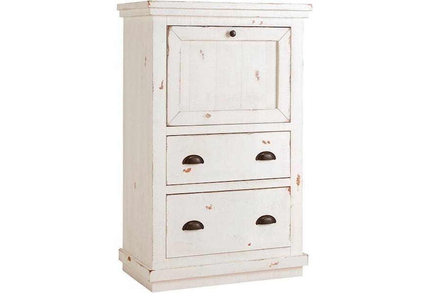 Progressive Furniture Willow Rustic Armoire Desk With Wire Managment Van Hill Furniture Secretary Desks