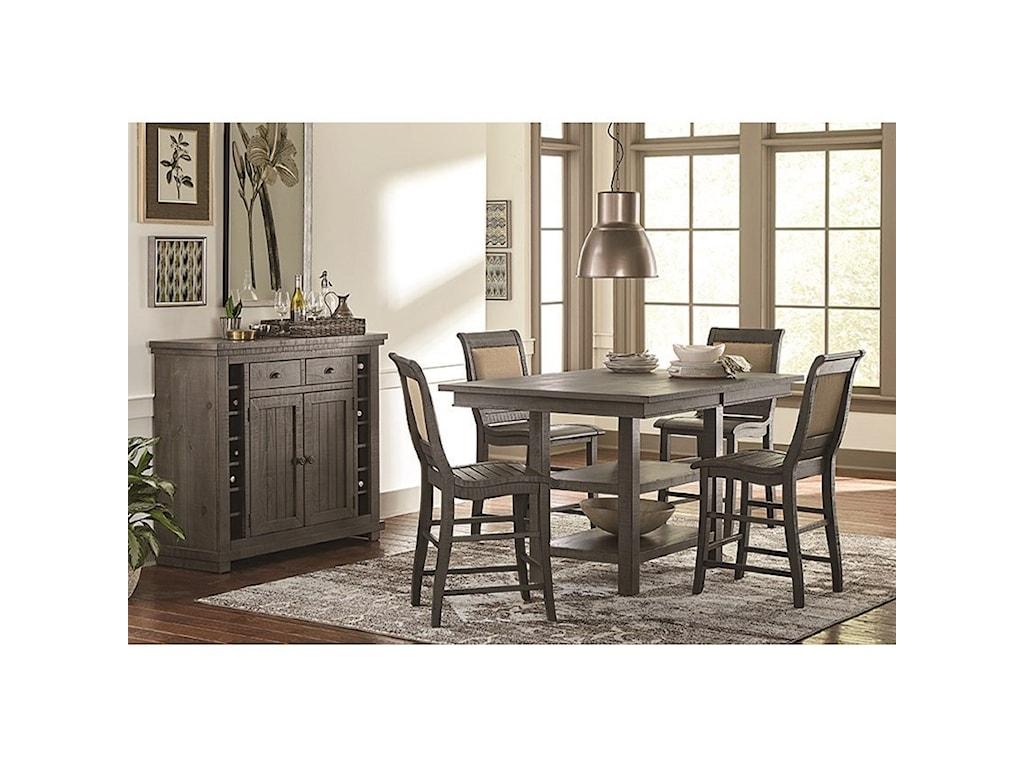 Progressive Furniture Willow DiningRectangular Counter Height Table