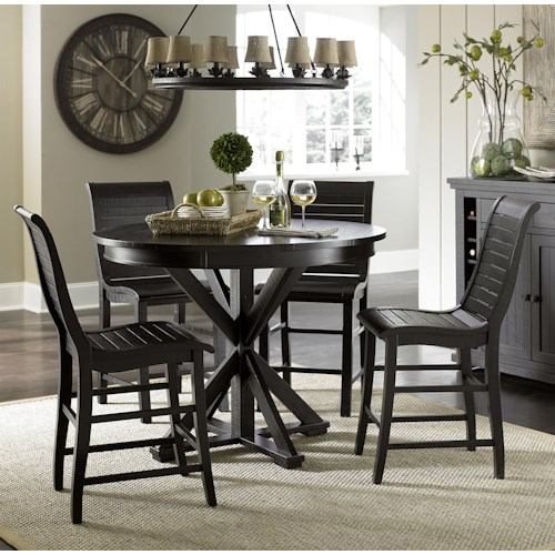 Progressive Furniture Willow Dining 5-Piece Round Counter