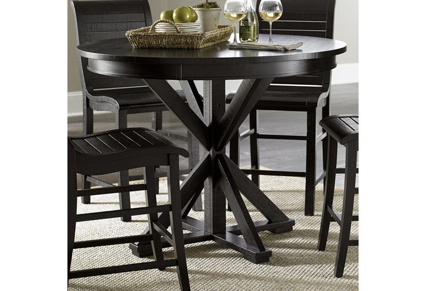 Willow Dining Distressed Finish Round Counter Height Table By Progressive Furniture At Simply Home Lindy S