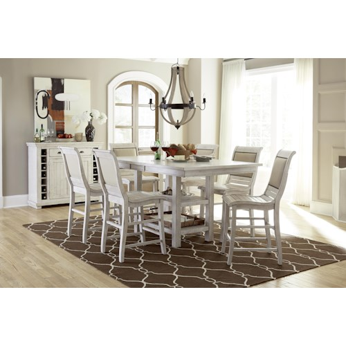 Progressive Furniture Willow Dining Formal Dining Room Group