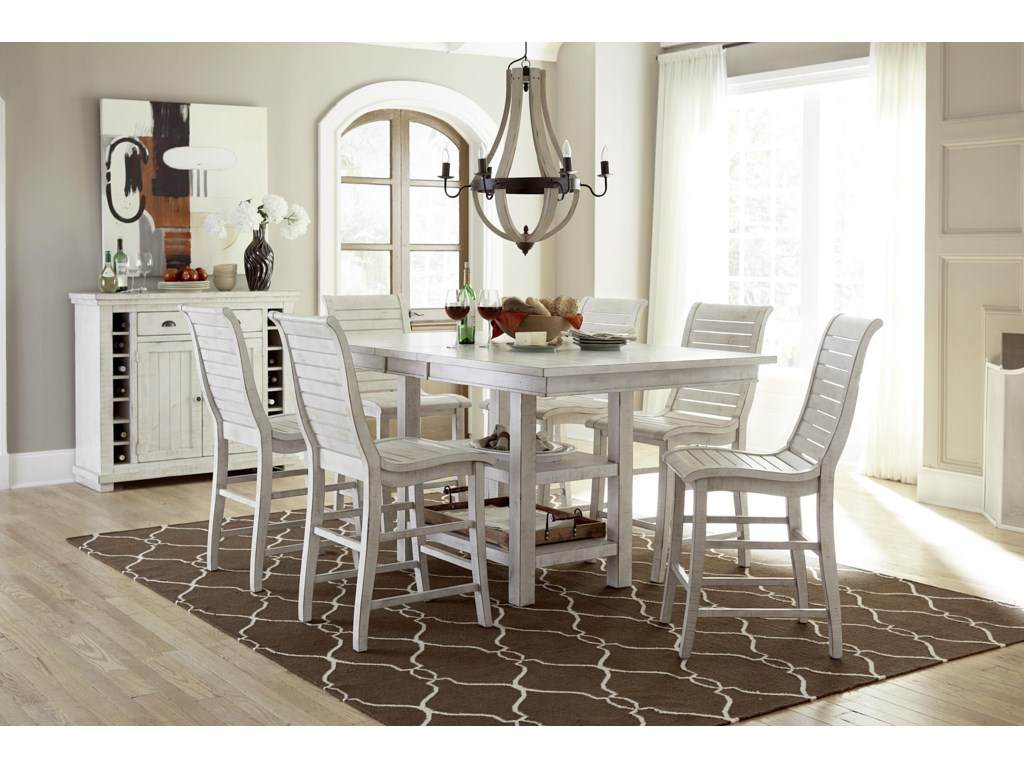 Progressive Furniture Willow Dining7-Piece Rect. Counter Height Table Set