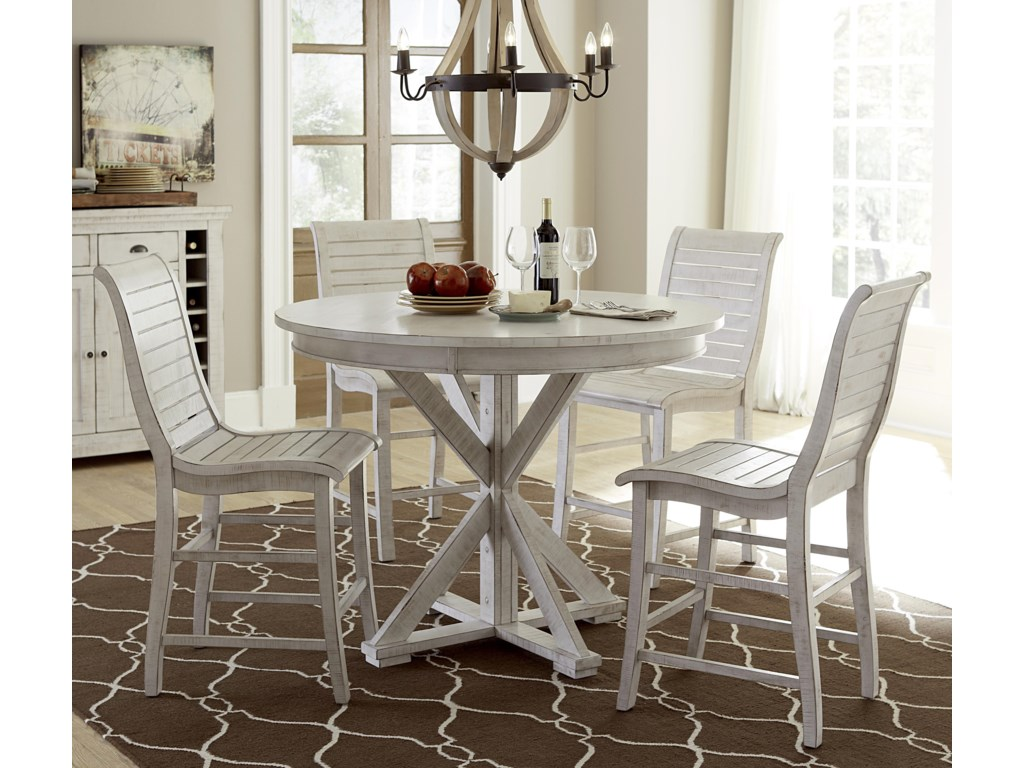 progressive furniture willow dining 5 piece round counter height