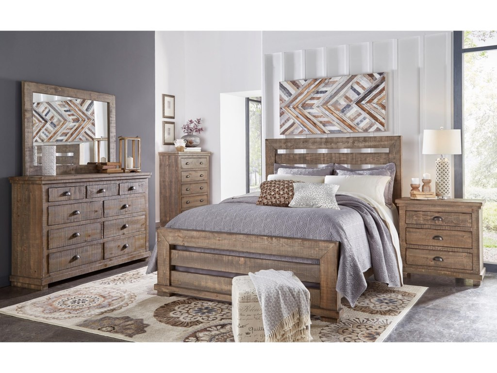Progressive Furniture Willow6 Piece King Bedroom Group