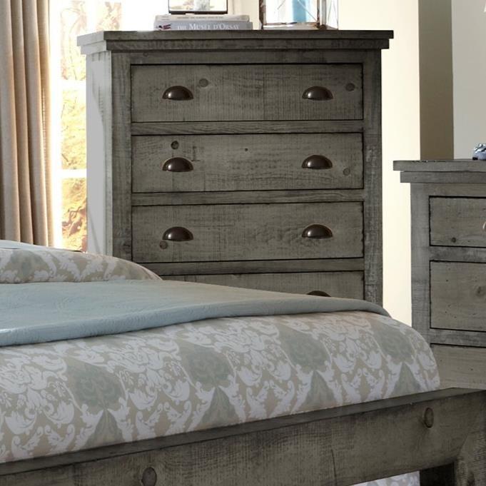 Attirant Progressive Furniture Willow Distressed Pine Chest