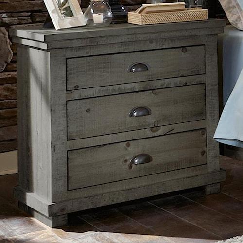 Progressive Furniture Willow Distressed Pine Nightstand