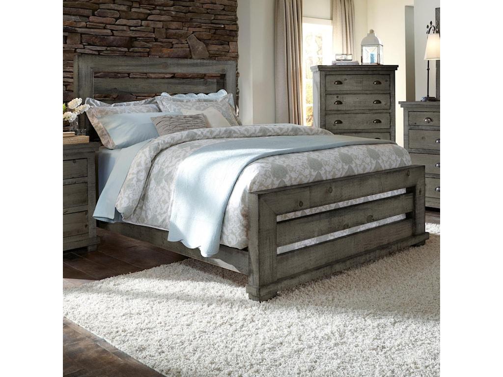 Progressive Furniture WillowQueen Slat Bed