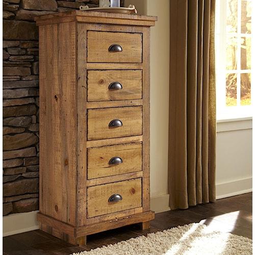 Progressive Furniture Willow Distressed Pine Lingerie Chest