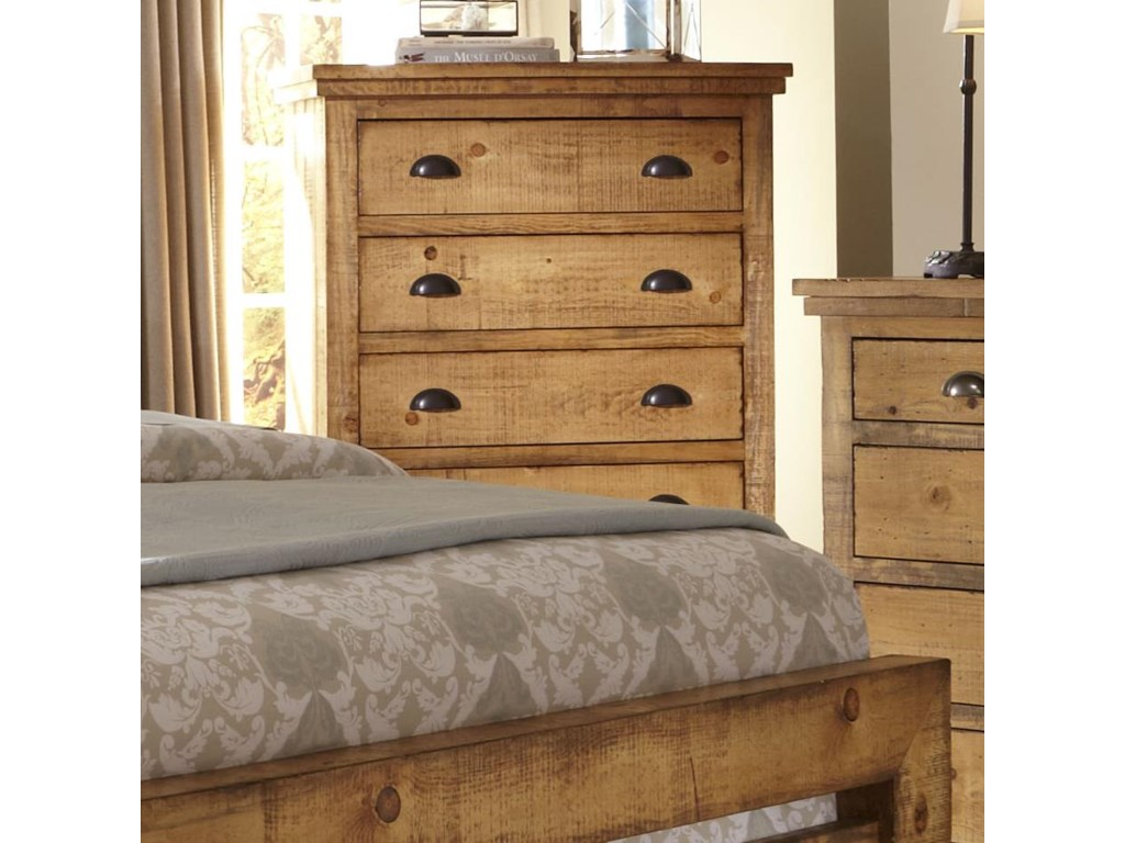 Progressive furniture willow distressed pine chest