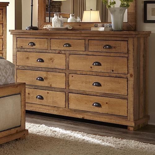 Progressive Furniture Willow P608 23 Drawer Dresser Northeast Factory Direct Dressers